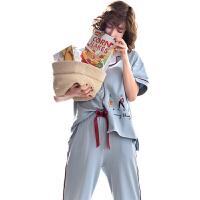 哺乳衣家居服套装 夏季月子服棉短袖产后喂奶衣孕妇睡衣