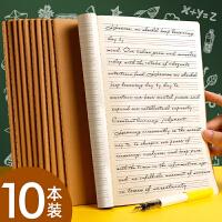 b5英语本初中生大号加厚16k英文作业笔记本子英语薄小学生三年级3-6年级英文作文练字练习本横开抄写四线三格