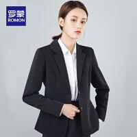 【1件2.5折价:149】罗蒙女士职业西服2021春季新款商务修身气质工作服正装单西小外套