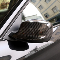 适用于宝马x6改装 碳纤维后视镜罩 x1x3x4x5 装饰倒车镜壳