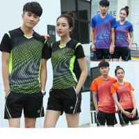 羽毛球服套装情侣T恤透气速干兵乓网球运动服男女短袖定制比赛服