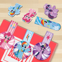 My Little Pony/小马宝儿童莉磁力书签 可爱动漫冰箱贴 3枚装