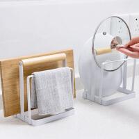 铁艺菜板架厨房抹布置物架砧板架子沥水架毛巾收纳架锅盖架案板架
