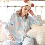哺乳衣套装 春夏棉纱布月子服桃心大码孕妇睡衣产后喂奶