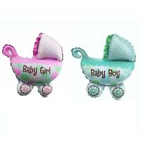 大号婴儿车造型生日周岁铝膜气球儿童宝宝百天派对庆典装饰气球