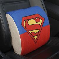 汽车头枕汽车腰靠护腰冬季腰垫车用亚麻靠枕记忆棉靠背座椅腰枕靠