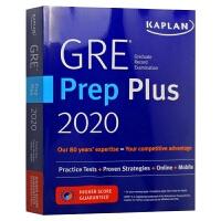 卡普兰GRE备考指南2020 英文原版 Kaplan GRE Prep Plus 2020 6 Practice Te
