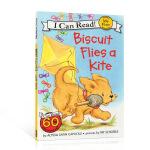 【发顺丰】英文原版儿童绘本 I can read my first Biscuit Flies a Kite 小饼干放