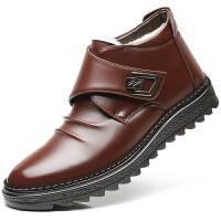 雪地靴男冬季皮面加绒棉靴保暖户外中帮防水厚底靴子男士棉鞋