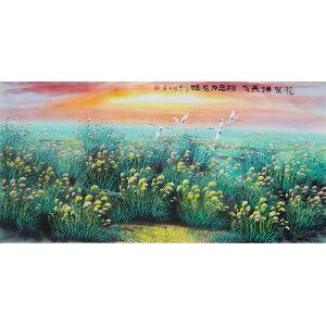 现代画家   杨丽  花絮满天飞相思为花媒
