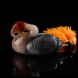 《鸿运当头》天然寿山石取巧精雕 寓意吉祥