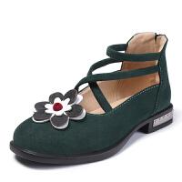 女童皮鞋春秋公主鞋儿童皮鞋女中大童学生演出小跟鞋