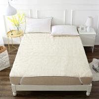 【2件5折】当当优品羊羔毛床垫 纯羊毛全棉防潮床垫 双人床褥150*200cm