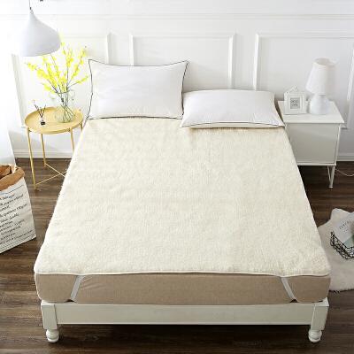 当当优品羊羔毛床垫 纯羊毛全棉防潮床垫 双人床褥150*200cm当当自营