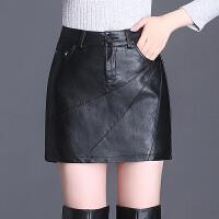 皮裤裙女韩版高腰皮短裤直筒裤2018秋冬新款大码显瘦皮裙裤靴裤