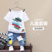 男童夏装套装夏季新款童装儿童韩版中大童短袖两件套