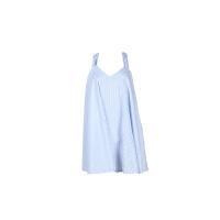 英伦海军风蓝色条纹吊带小性感连衣裙休闲沙滩裙
