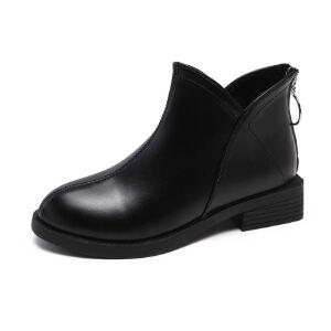 WARORWAR新品YM32-9928秋冬欧美低跟女士马丁靴短靴