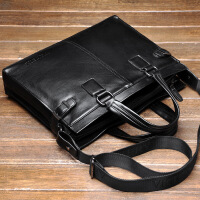 新款皮男士商务包横款韩版手提包休闲公文包潮单肩包斜跨电脑包