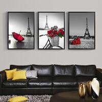 北欧黑白客厅装饰画现代简约沙发背景墙挂画餐厅过道玄关三联壁画
