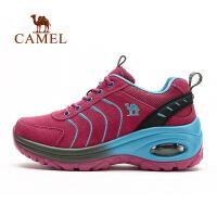 camel 骆驼户外徒步鞋 秋冬女款耐磨减震系带时尚徒步鞋