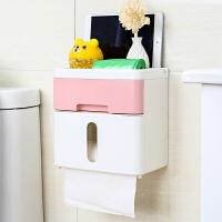 【支持礼品卡】手纸盒卫生间厕所纸巾盒免打孔卷纸筒抽纸厕纸盒防水卫生纸置物架kj4