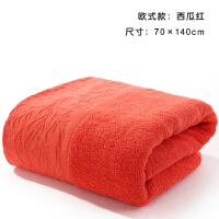 加厚棉长绒棉酒店洗澡浴巾柔软欧式 140x70cm