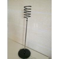 发廊电吹风机架子不锈钢风筒架落地美发工具架理发店吹风机支架 黑色 (不带托盘)