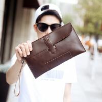 2018新款韩版手拿包 男士休闲手抓包 手机包潮复古信封包男女手包