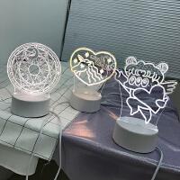 韩国少女心爱心独角兽小夜灯 LED台灯房间布置装饰灯道具礼物