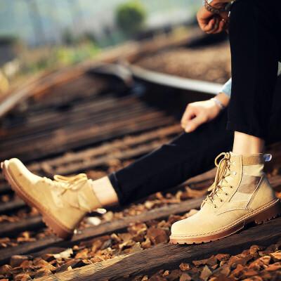 【包邮】2017秋冬季新品爆款战狼同款秋季男鞋子韩版马丁靴男士英伦军靴工装短靴皮靴高帮休闲鞋子男71408JQ