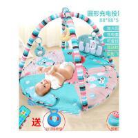 婴儿健身架器宝宝脚踏钢琴新生儿童0-1岁多功能早教男女孩 抖音 【圆形款】带枕头可充电加飞机 含遥控器送摇铃球