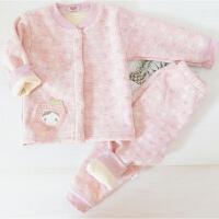 婴儿保暖内衣套装加绒加厚冬季外穿0-1岁男宝宝幼儿秋衣女