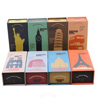 创意文具 收纳盒 化妆品盒 首饰盒 储物文具盒 颜色图案随机