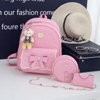新款韩版儿童背包PU双肩书包休闲旅游可爱背包