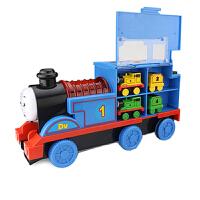 大号托马斯小火车头宝宝汽车音乐惯性儿童玩具车列车模型男孩 滑梯-磁性收纳托马斯 带4组合金小火车