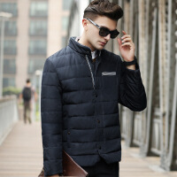 羽绒服男2018新款轻薄短款立领青年韩版修身潮流帅气男士冬季外套