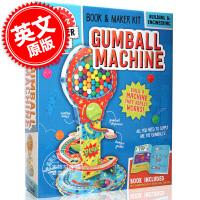 现货 糖果机 英文原版 Gumball Machine 简易糖果机制作 自带素材 培养动手能力 儿童适用