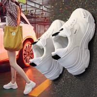 ins超火的老爹鞋新款学院风厚底运动休闲鞋女韩版百搭学生跑步鞋 色