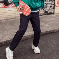 【1件2.5折到手价:73.8】MECITY男装春季新款时尚直筒梭织长裤韩版潮流休闲裤