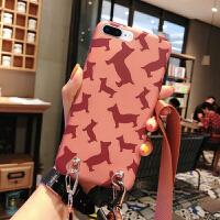 JM刘诗诗明星同款苹果x手机壳iphone7背带斜挎8plus网红女款xr可以背的xs max背包式 苹果6p/6sp