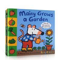 【全店300减100】英文原版 Maisy Grows a Garden 小鼠波波种了一个花园 儿童英语启蒙绘本 廖彩杏