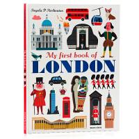 我的1st本关于伦敦的书 My First Book of London 英文原版绘本 地理风情 儿童课外兴趣阅读 大开