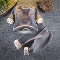 儿童保暖内衣套装加绒加厚冬季宝宝睡衣0一1-2-3-4岁小男童秋衣裤
