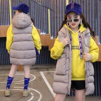 女童冬装2018新款棉马甲中长款中大童洋气棉衣背心潮女孩冬季外套
