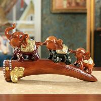 创意吉祥大象家居饰品摆件欧式客厅电视柜酒柜玄关小象工艺品