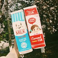 韩国创意牛奶盒笔袋 学生立体卡通文具盒铅笔盒手拿零钱包女收纳