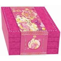 (献给女孩的2017年贺岁大礼)姹紫嫣红芭比新年礼盒 芭比公主童话故事涂色书新年红包对联等11款新意的产品 儿童读物3书
