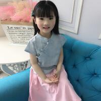 女童旗袍裙儿童唐装汉服童装襦裙夏装中国风套装衣服中大童连衣裙