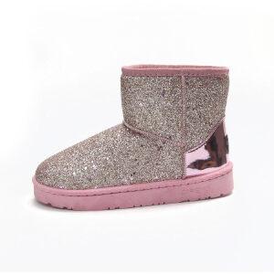 WARORWAR新品YM29-8802冬季欧美磨砂反绒平底舒适女士雪地靴